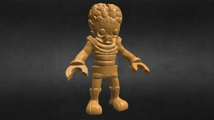 Graveyard Greg 010 - Mr Martian 3D Model