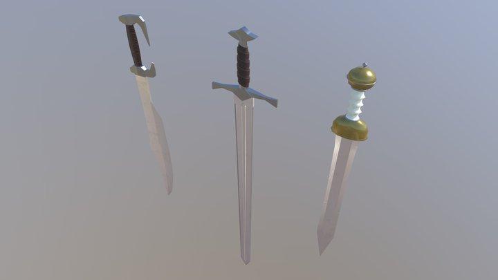 Swords Props I Low-poly 3D Model