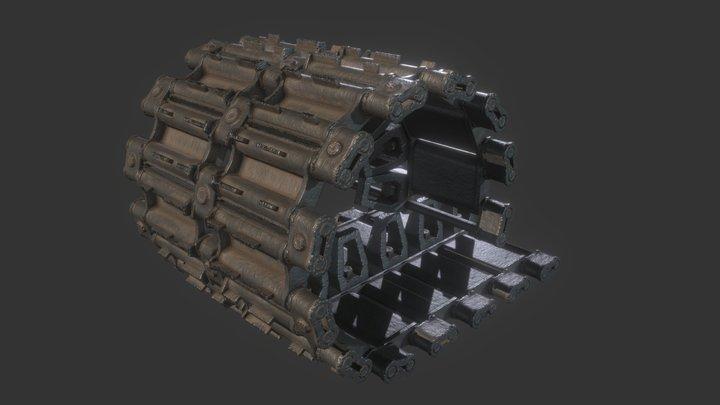 T-90 Track Segments 3D Model