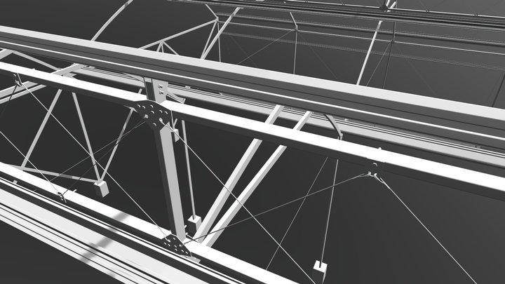 Invernadero Exportado 3D Model