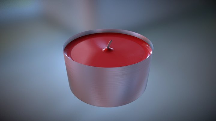 Tiny Candle 3D Model