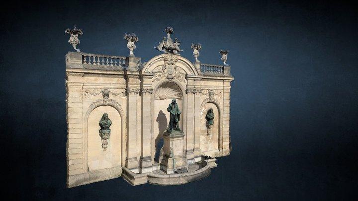 Statue de Jacques Callot à Nancy 3D Model