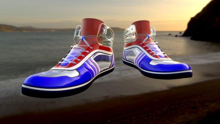 [Contest] AQUA Shoes #ShoesTexturingChallenge 3D Model