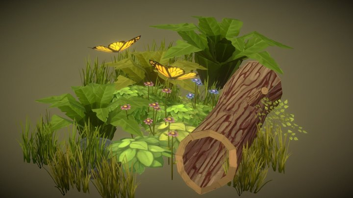A Part of a Forest 3D Model