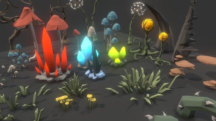 POLYGON - Dungeon Plants 3D Model