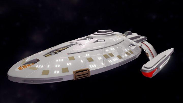 USS Belfast 3D Model