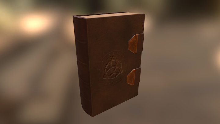 Book (leather-bound) 3D Model