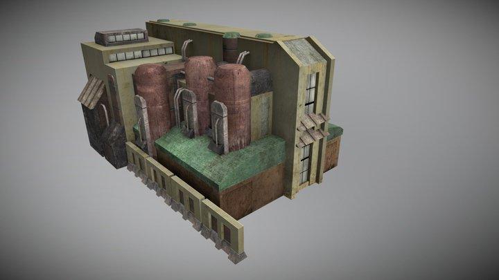 Derelict industrial facility variation 3D Model