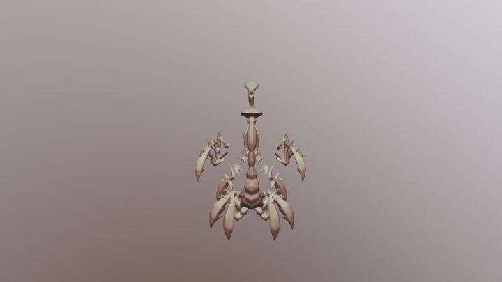 scorpion headphone stand 3D Model