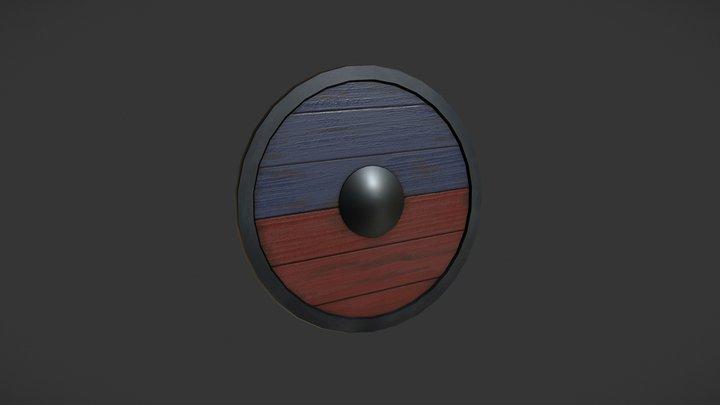 Viking Shield - Lowpoly PBR 3D Model