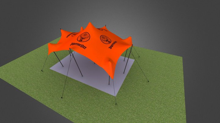 6m x 8m Freeform Stretch Tent - Jaegermeister Br 3D Model