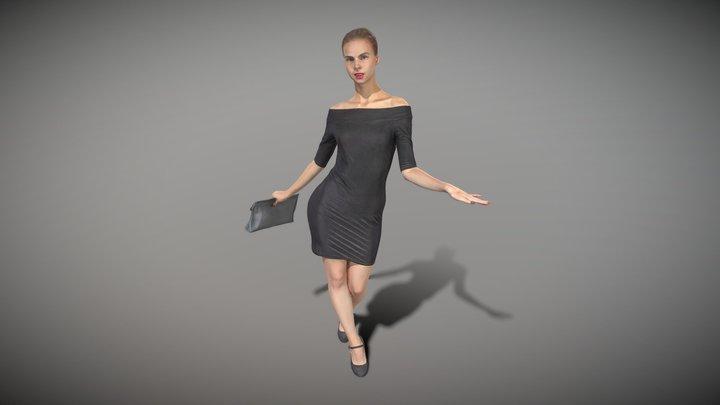 Elegant lady with a clutch bag 113 3D Model