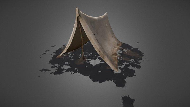 Small canvas tent 3D Model