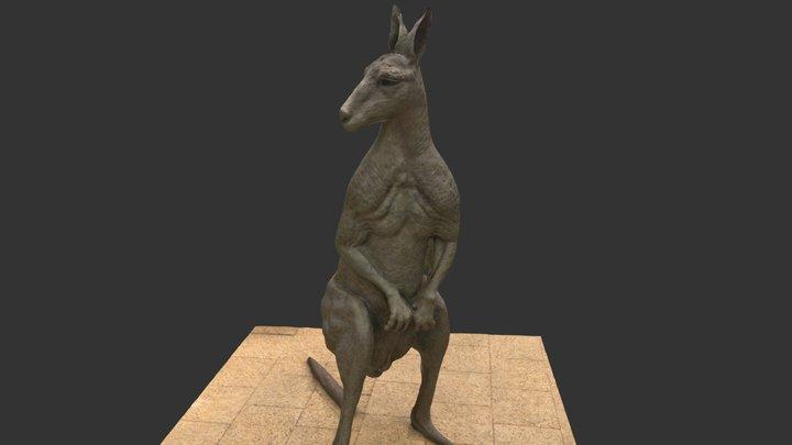 Kangaroo statue 3D Model