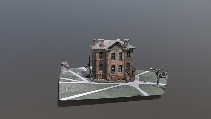 Historic Stone Courthouse Fairplay, Colorado 3D Model