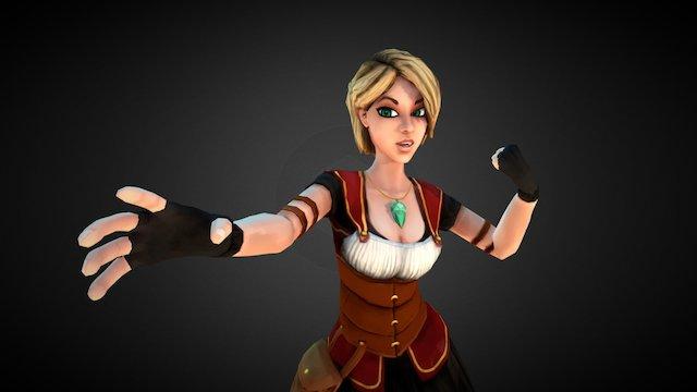 Sky Pirate Princess 3D Model