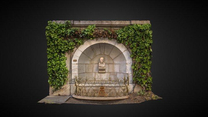 Fontaine Jean-Jacques Rousseau - Annecy 3D Model