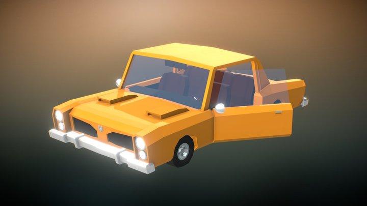 Vintage Car - Low Poly Style 3D Model