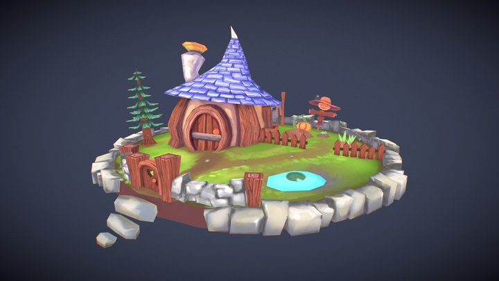 Autumn Cottage 3D Model
