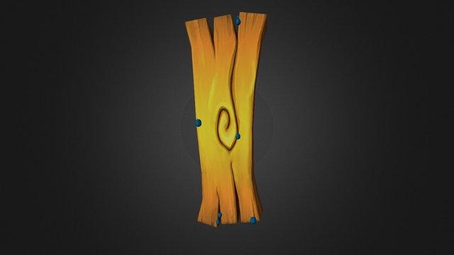 Stylized Wood Plank 3D Model