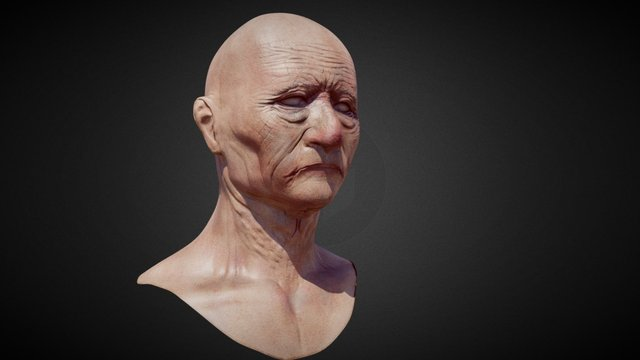 Old barbarian 3D Model
