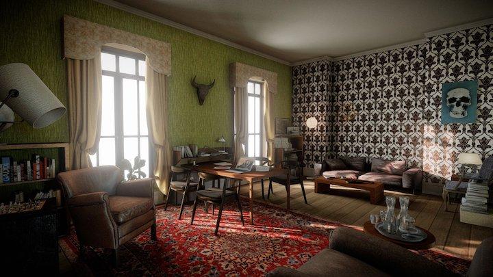 221B Baker Street - Sherlock - Archilogic 3D Model
