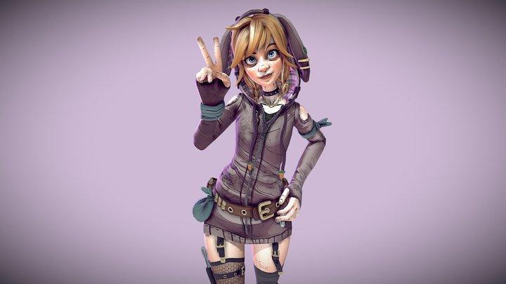 Borderlands Character: Hopper 3D Model