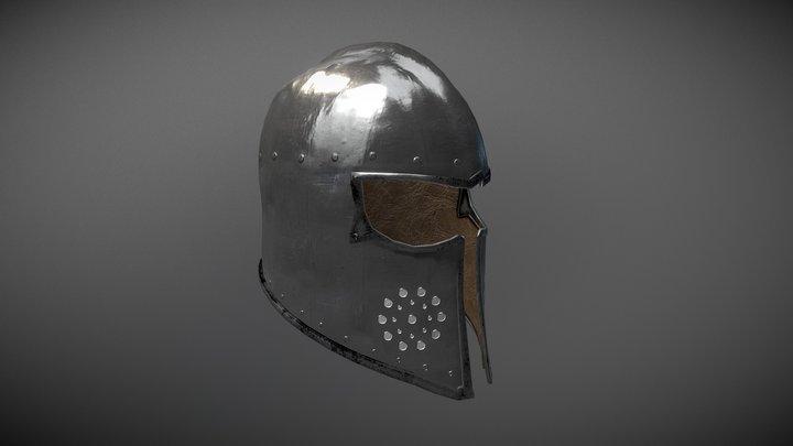 Barbuta Helmet 3D Model