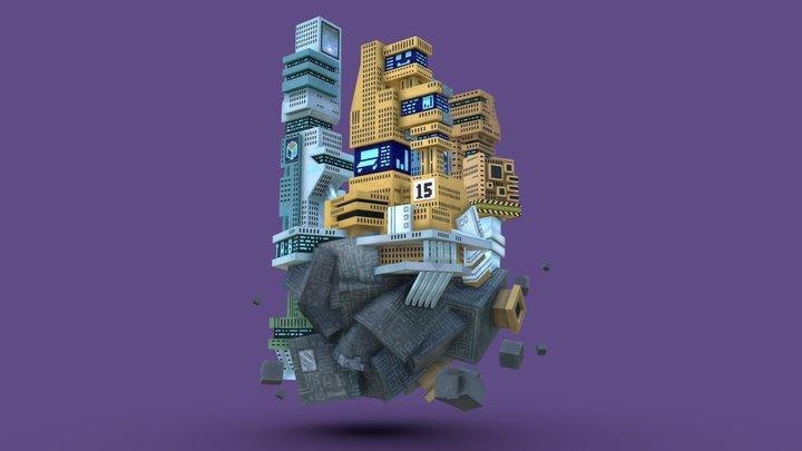 2045 VESTA:B 3D Model