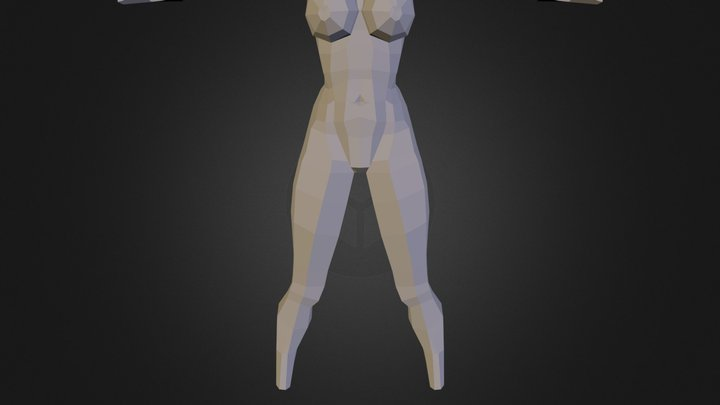 Drew White Base Mesh Body 3D Model