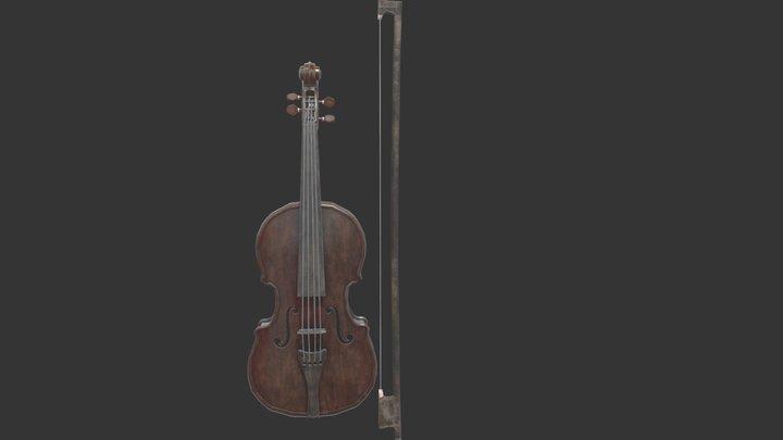 Old Violin 3D Model