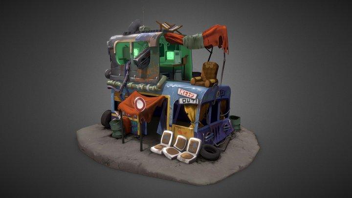 Landfill dealer house 3D Model