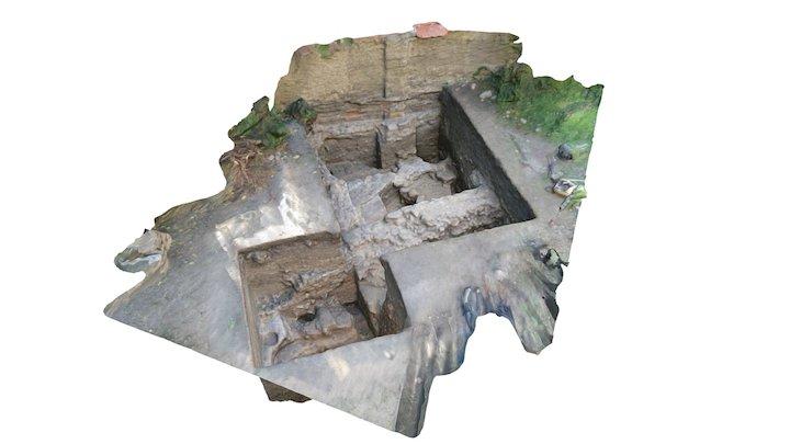 Pozůstatky předrománského kostela na Vyšehradě 3D Model