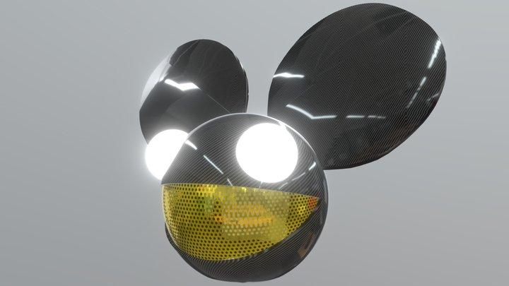 Carbon Fiber Deadmau5 head 3D Model