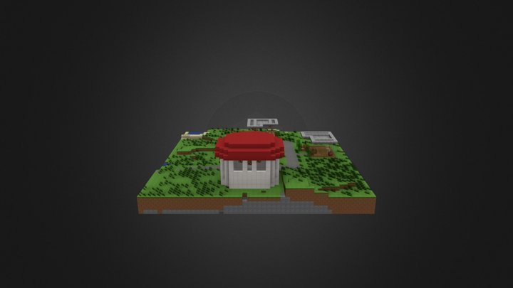 Pixelmon town 3D Model