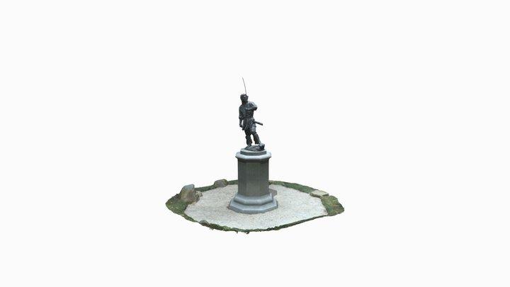 葛城坐一言主神社様 雄略天皇像 3D Model