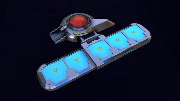 Custom Duel Disk Yugioh 3D Model