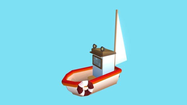 Lowpoly boat 3D Model