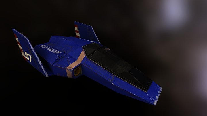 Blue Falcon Sketchfab 3D Model