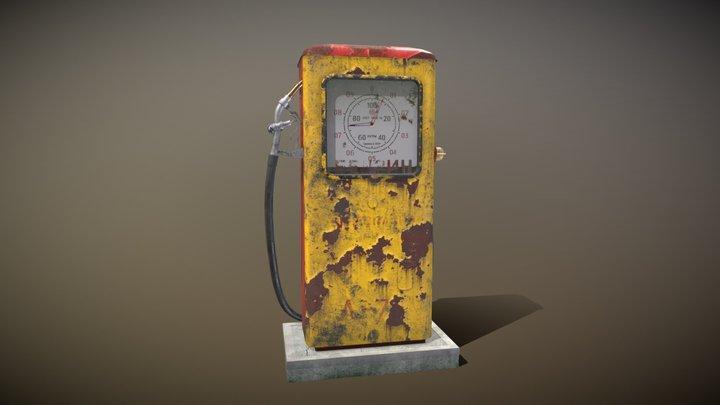 Soviet Gasoline Pump 3D Model