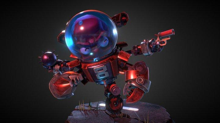 Octo-Robot 3D Model
