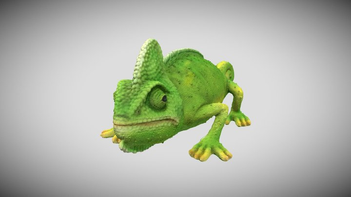 Chameleon Savings Box #RCToyChallenge 3D Model