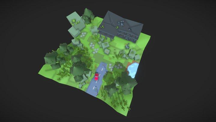 Lowpolylevel 3D Model