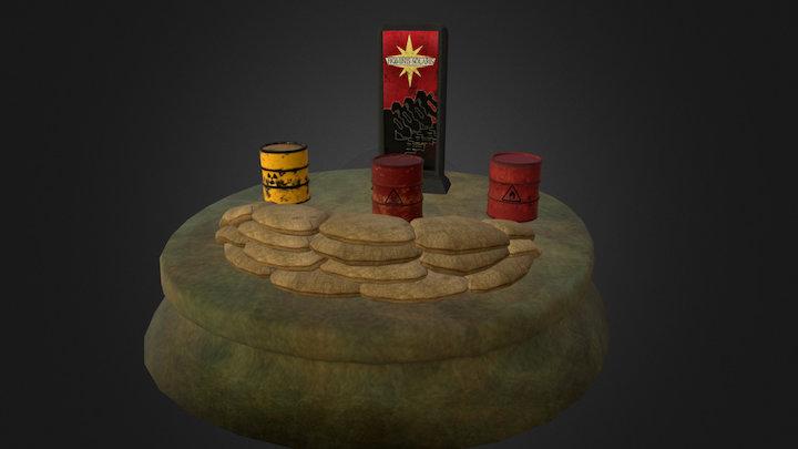 Pack Props 01 - War Calls 3D Model