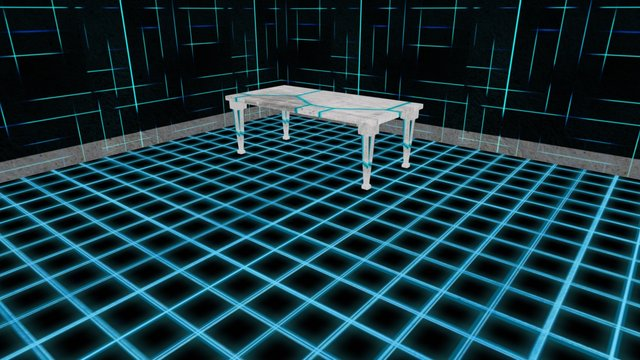 """Room 1 """"Tron"""" 3D Model"""