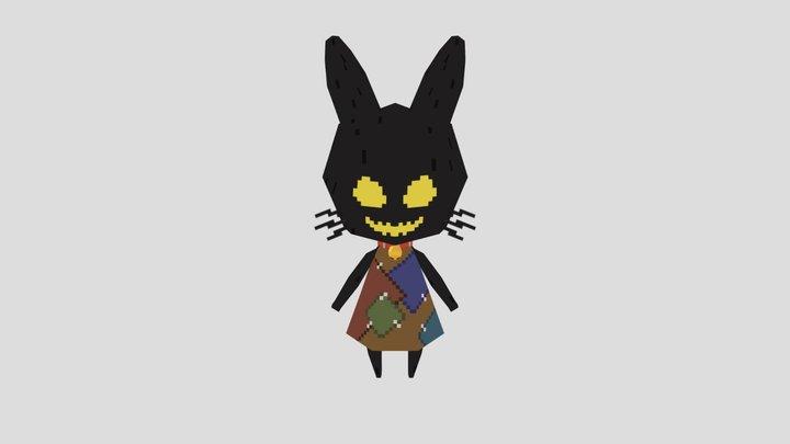 3d monster kitten 3D Model