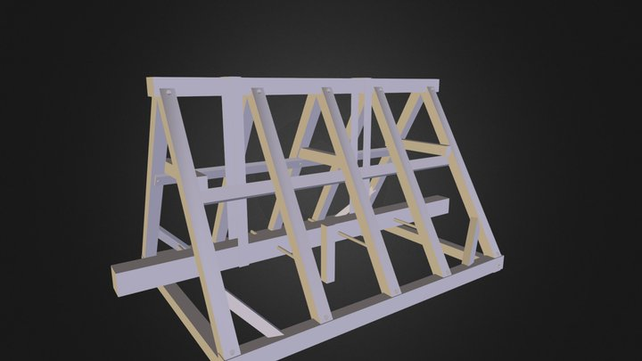Battering Ram with framework 3D Model