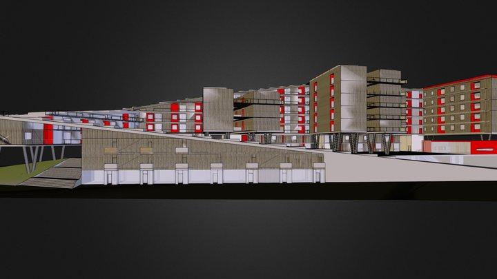 social housing in Milano 3D Model
