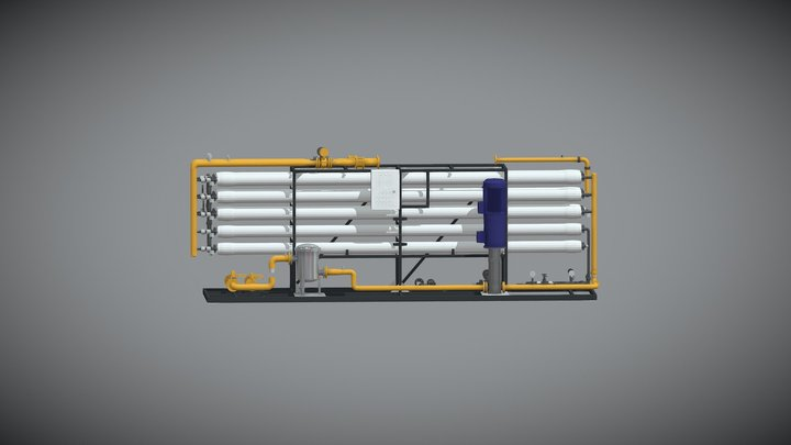Reverse Osmosis System 3D Model