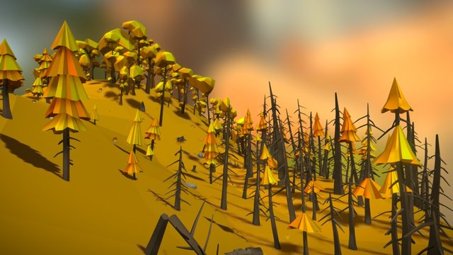 Forest Pack Autumn 3D Model